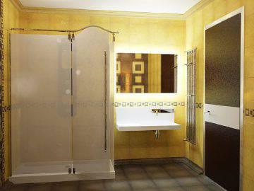 Ванная комната в желто-коричневой гамме