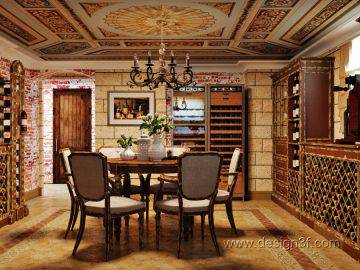 Интерьер винной комнаты