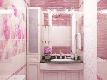 Цвет фуксии в интерьере ванной