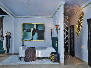 Дизайн интерьера спальни в стиле арт-деко