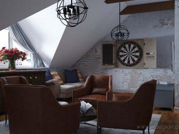 Комната отдыха на мансардном этаже