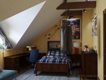 Комната подростка в кантри стиле