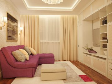 Современная гостиная с угловым диваном