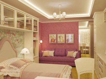 Дизайн интерьера детской комнаты для девочки