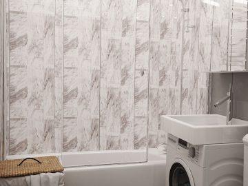 Современный дизайн интерьера в серых и белых тонах