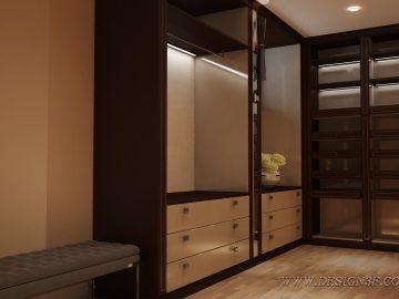 Большая современная гардеробная комната