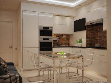 Дизайн интерьера небольшой квартиры в современной стилистике