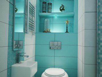 Ванная бирюзового цвета