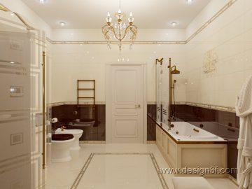 Интерьер ванной комната классика