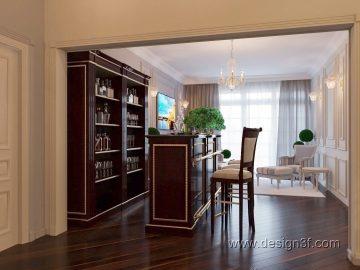 Интерьер гостиной комнаты классика