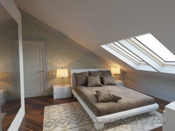 Гостевая спальня мансарда
