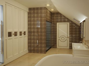 Дизайн интерьера ванной с сауной