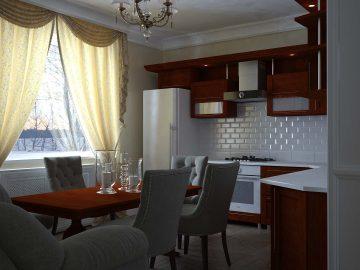Дизайн кухни с угловым диваном