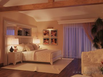 Дизайн интерьера спальни в теплых тонах