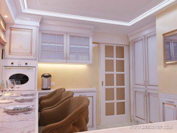 Классическая светлая кухня