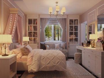 Интерьер комнаты в классическом стиле