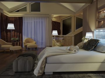 Дизайн интерьера спальни в стиле ар деко