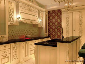 Элитная кухня в классическом интерьере
