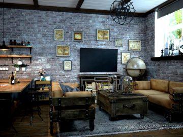 Дизайн интерьера студии в стиле лофт