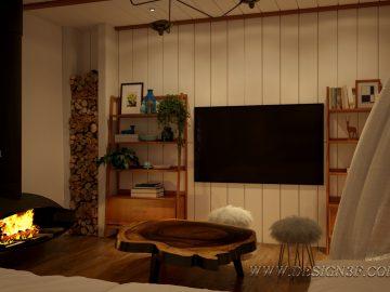 Интерьер кухни и гостиной в скандинавском стиле