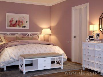 Дизайн интерьера спальни с белой мебелью
