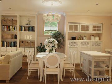 Интерьер квартиры в стиле прованс на мансардном этаже