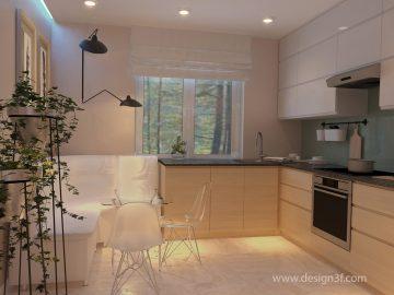 Кухонный уголок в интерьере небольшой кухни