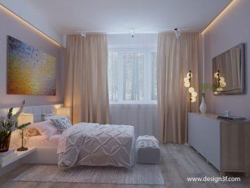 Интерьер квартиры 56 м2 в современной стилистике