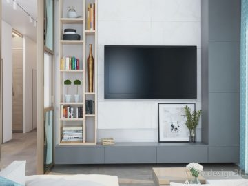 Современный интерьер гостиной в частном доме